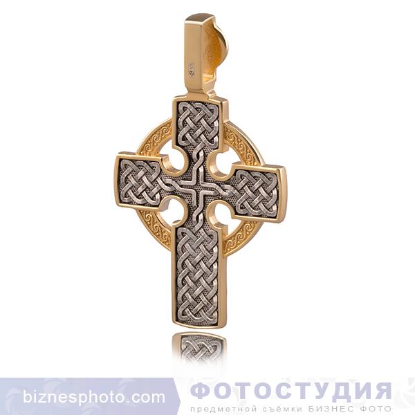 Позолоченый священный кулон с черненым серебром